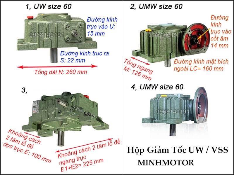 Hộp số UW VSS size 60