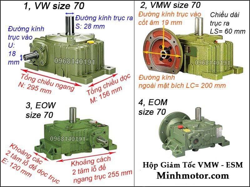 Hộp giảm tốc VMW ESM size 70