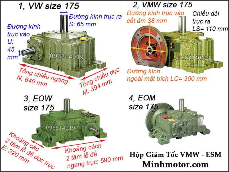 Hộp giảm tốc VMW ESM size 175