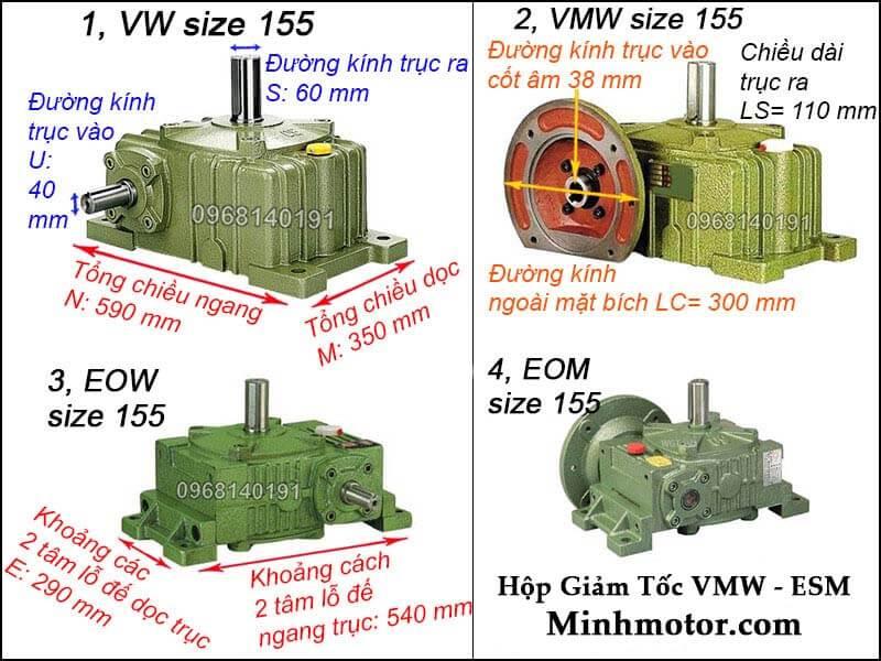 Hộp số VMW ESM size 135