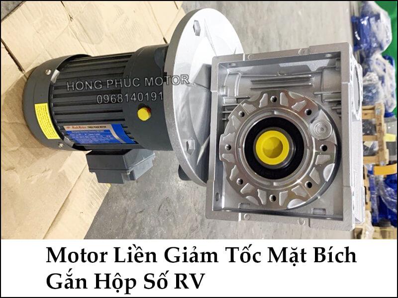 motor hộp giảm tốc liền mặt bích gắn hộp số RV size 90