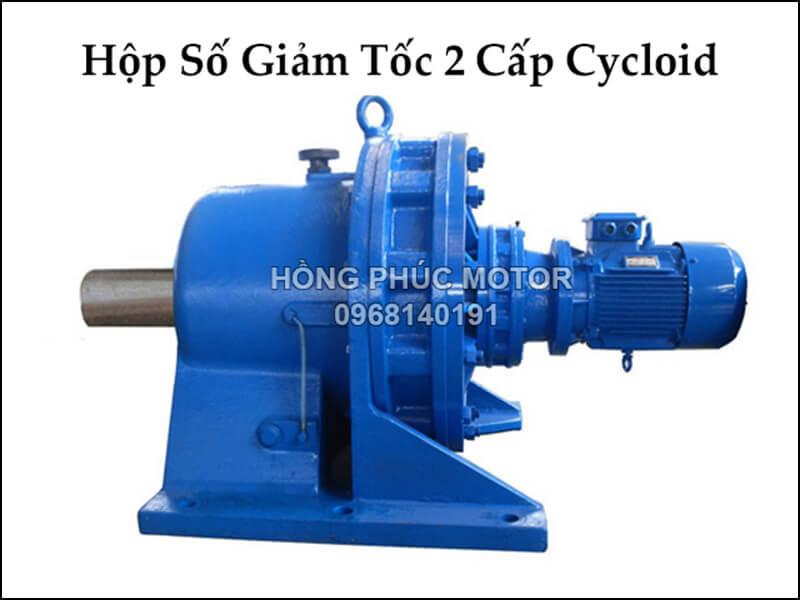 động cơ hộp giảm tốc 2 cấp 2 hp 1.5kw cyclo