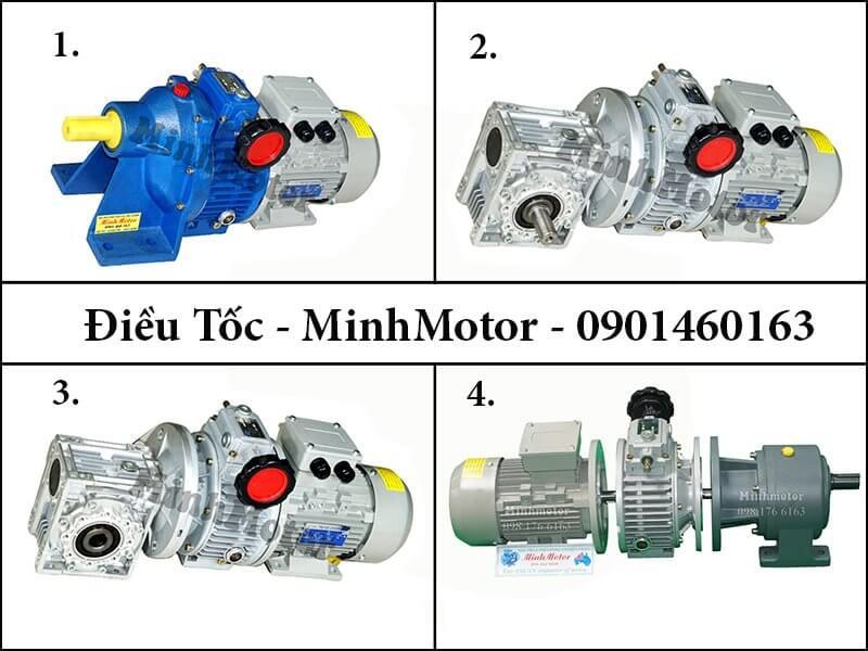 Motor hộp giảm tốc 2 cấp 3hp 2.2kw điều tốc cơ