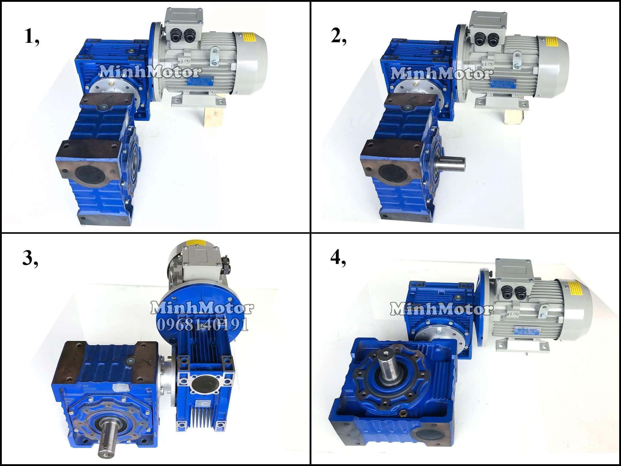 Hộp giảm tốc 2 cấp NMRV size 150
