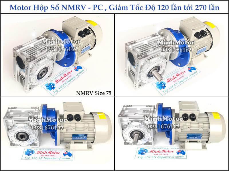 hộp giảm tốc 2 cấp nmrv gắn hộp giảm tốc tăng cường pc
