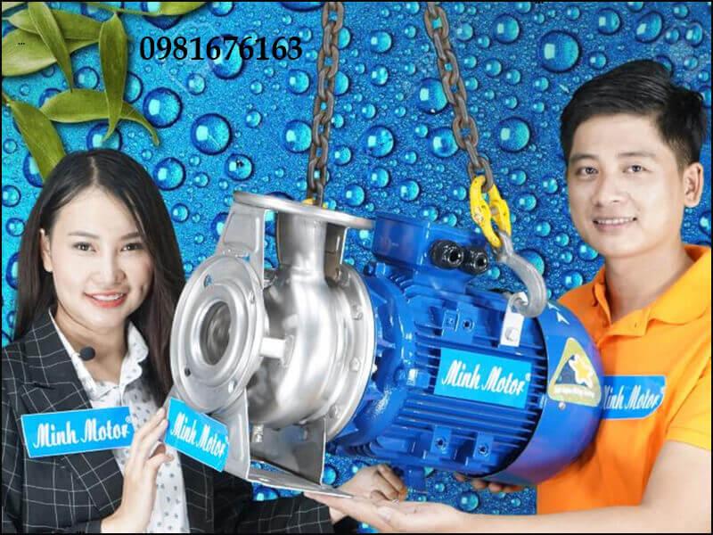 Máy bơm nước 5.5kW 7.5HP đầu inox bơm hóa chất