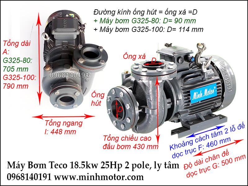 máy bơm nước teco 18.5kw 25hp