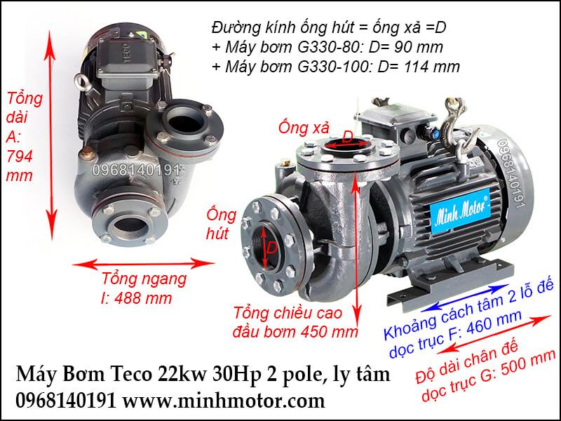 máy bơm nước teco 22kw 30hp