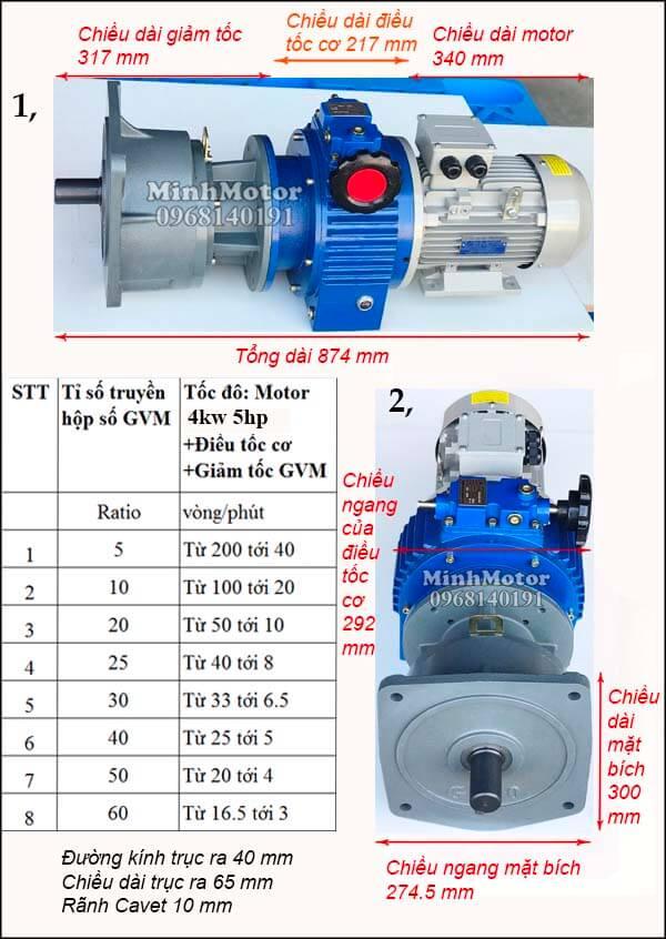 Bộ điều khiển motor 4Kw 3.7Kw 5Hp mặt bích