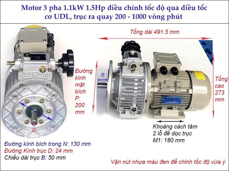 Bộ điều khiển tốc độ motor 1.1Kw 1.5Hp 200 - 1000 vòng