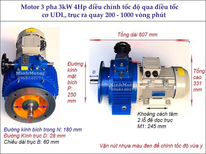 Bộ điều khiển tốc độ motor 3Kw 4Hp